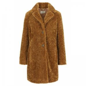 Coat Fur  7-8 With buttons WPK logo
