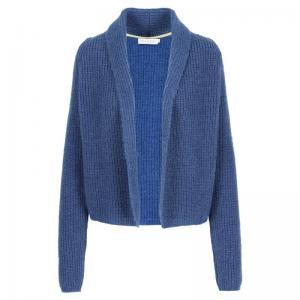 cardigan, with lurex logo
