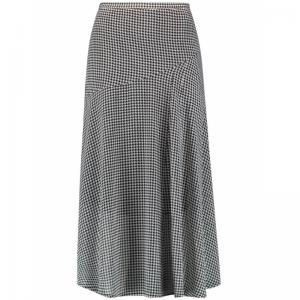 skirt long woven fabric logo